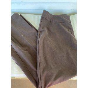 Dressbarn sz 12 dress pants brown